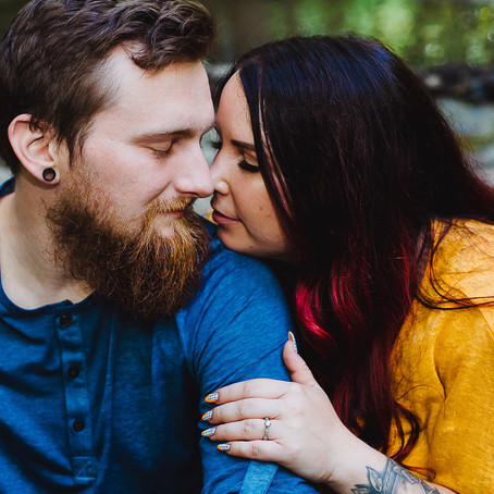 Justin + Stephanie | Settlers Cabin Waterfall Adventure Engagement Session