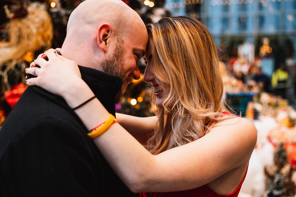 Surprise Proposal at the Wintergarden in Pittsburgh
