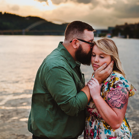 Chris + Sarah | Point State Park Engagement