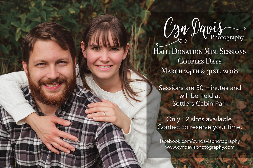 Couples Mini Sessions: March 24th & 31st