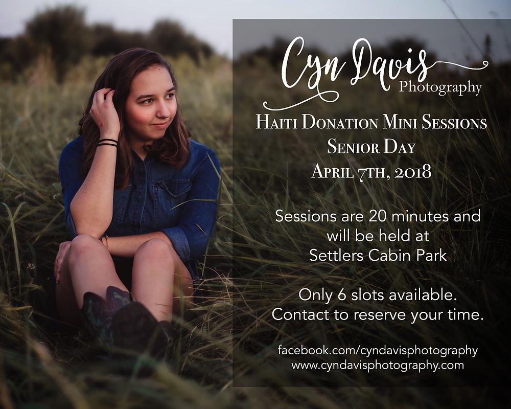 Senior Mini Sessions: April 7th