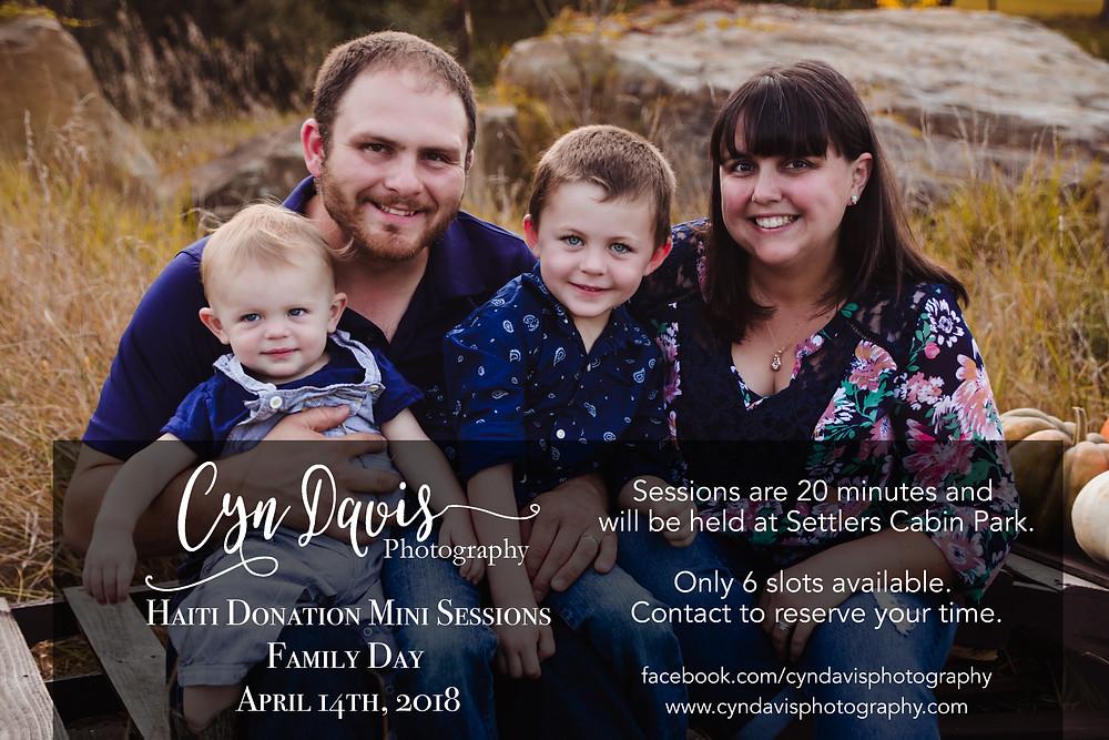 Family Mini Sessions: April 14th