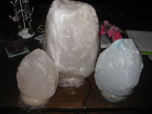White Himalayan Salt Lamps From $28