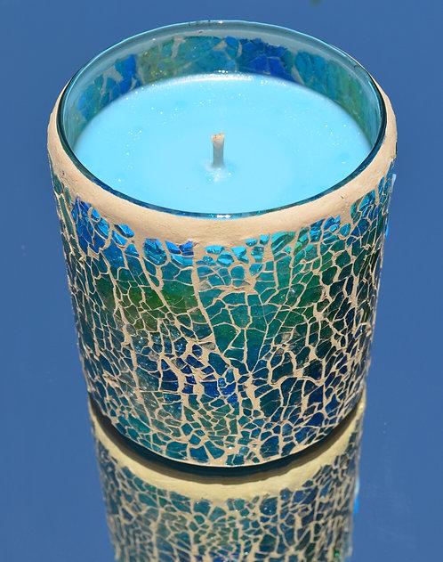 Large Mosaic Reiki Candle