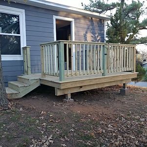 wood deck, deck, outdoor deck, deck outside kitchen