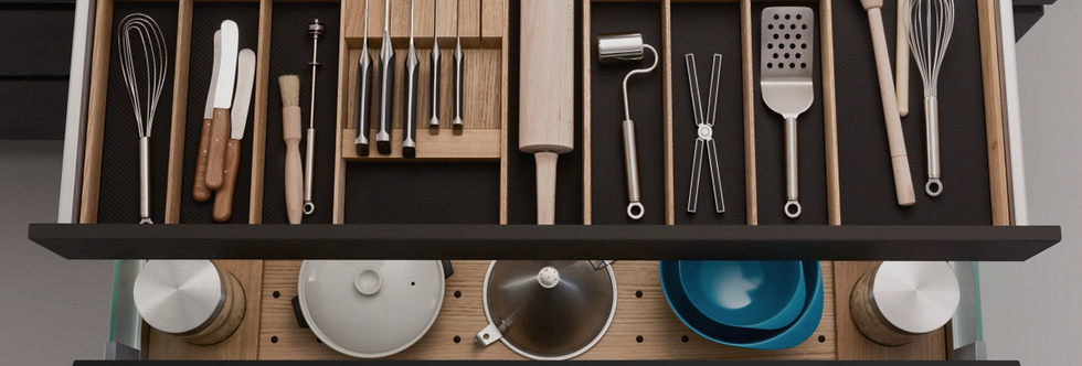 Q Box Luxe 4 - cutlery divider with knife rack