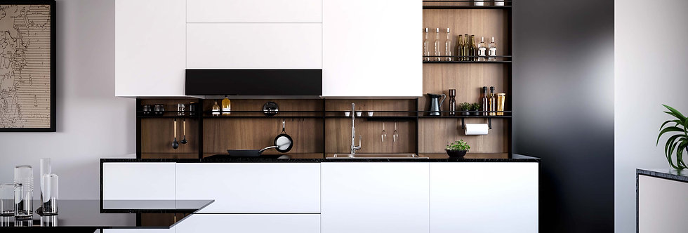 COMBO - FREESTANDING BACKSPLASH RACK