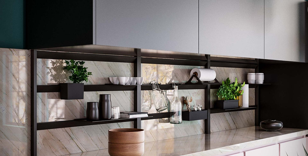 DAMAR - FREESTANDING BACKSPLASH RACK