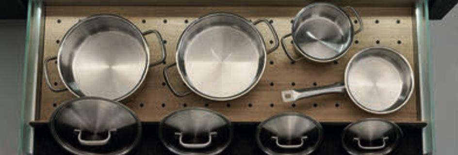 Q Box divider for pots and lids