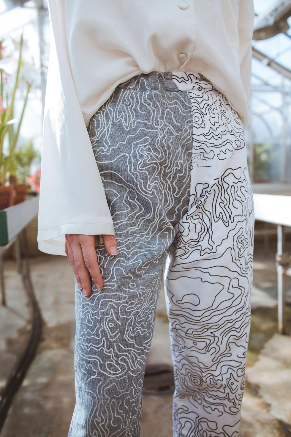 Pants, modeled