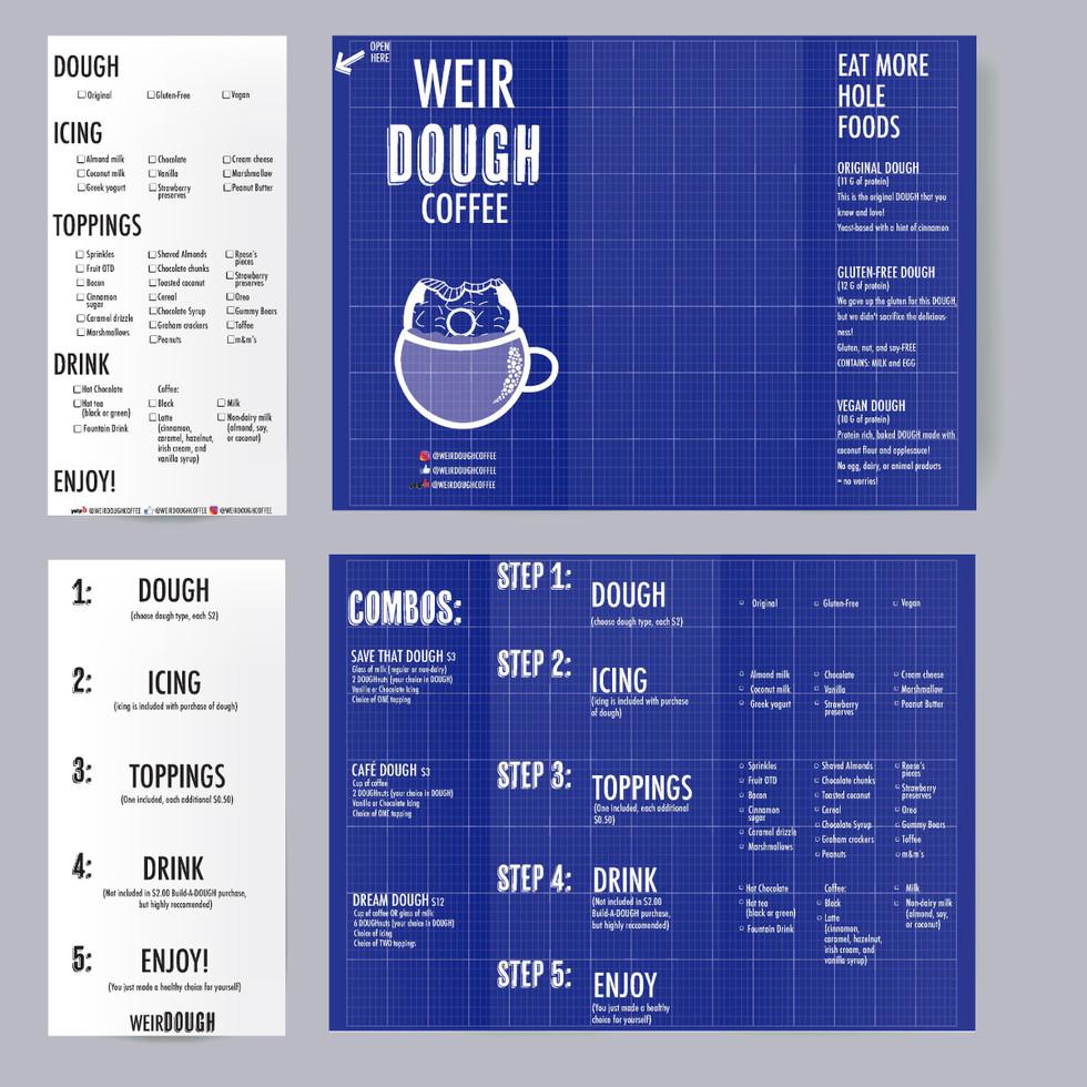WeirDOUGH carry-out menu