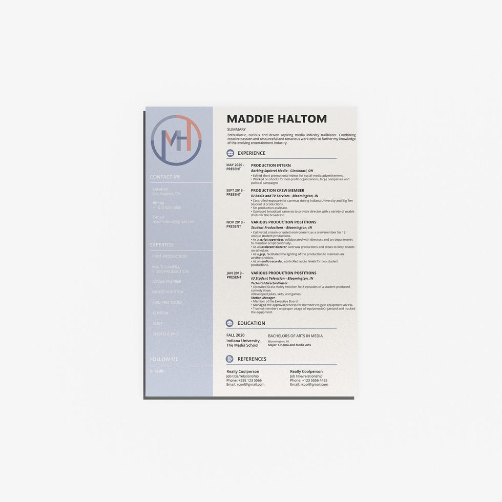 Maddie Haltom Resume