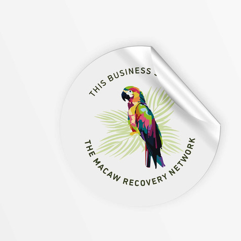 Macaw Recovery Group Sticker