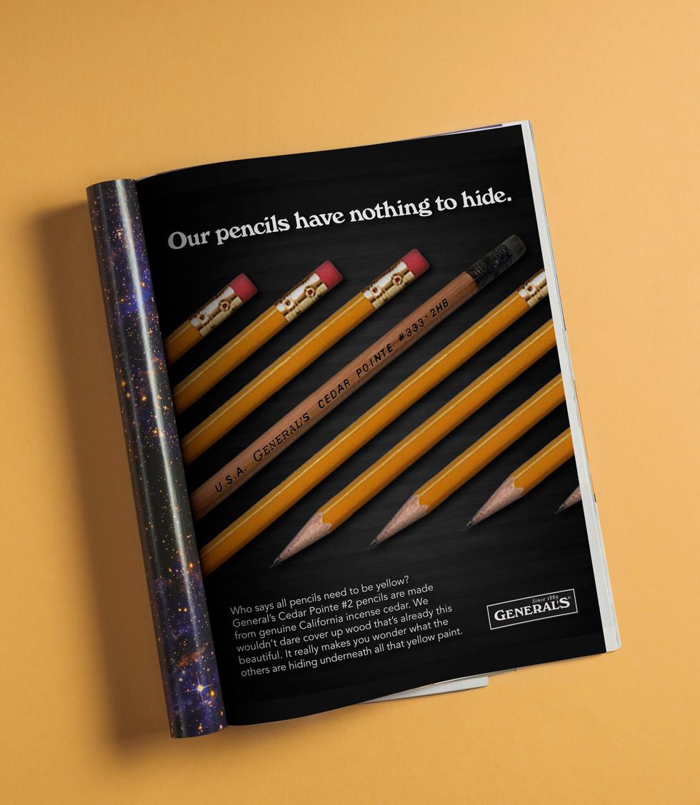 General Pencil Print Ad 1