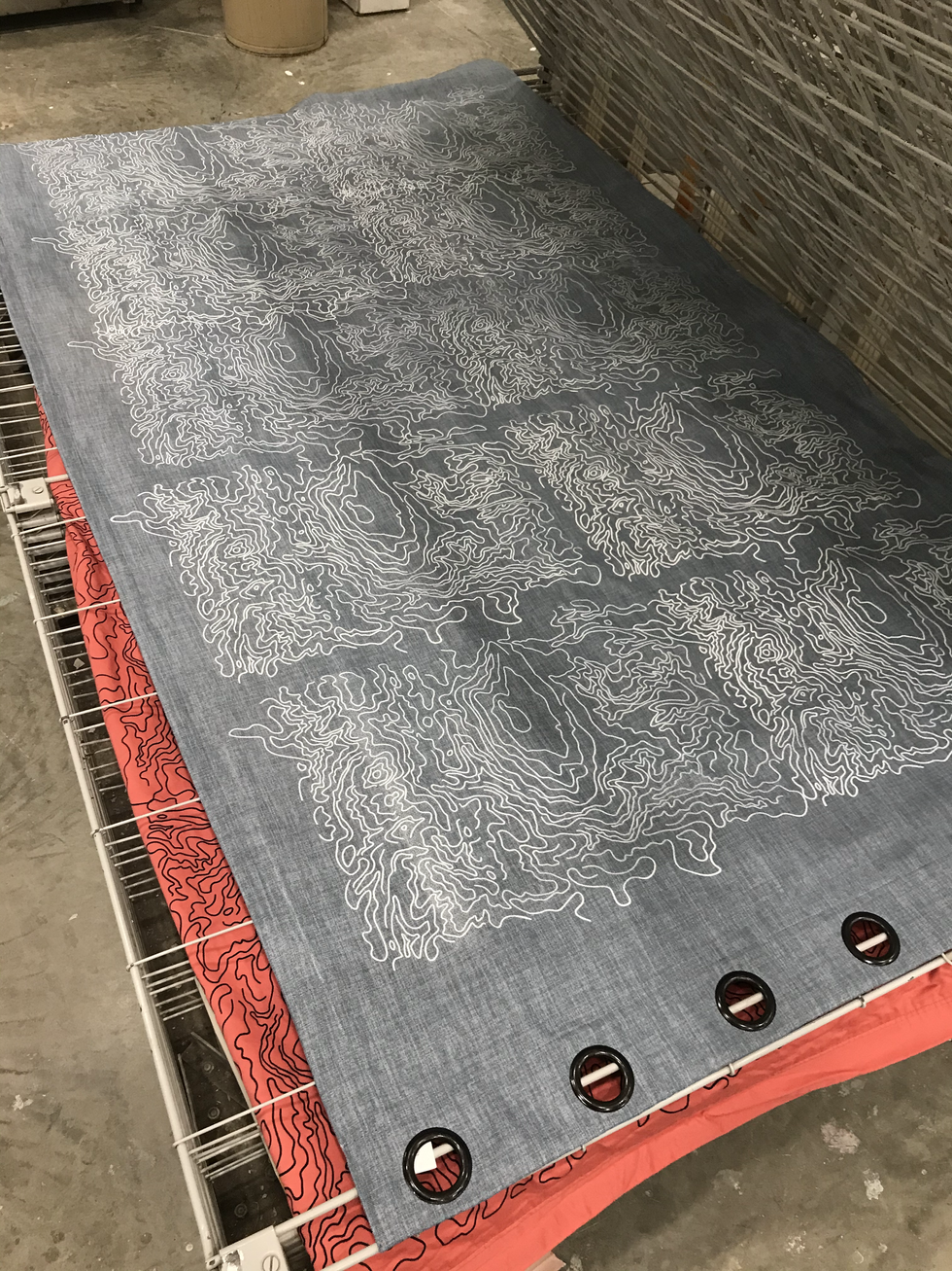 Printed Curtains, drying