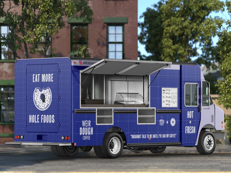 Food truck side angle