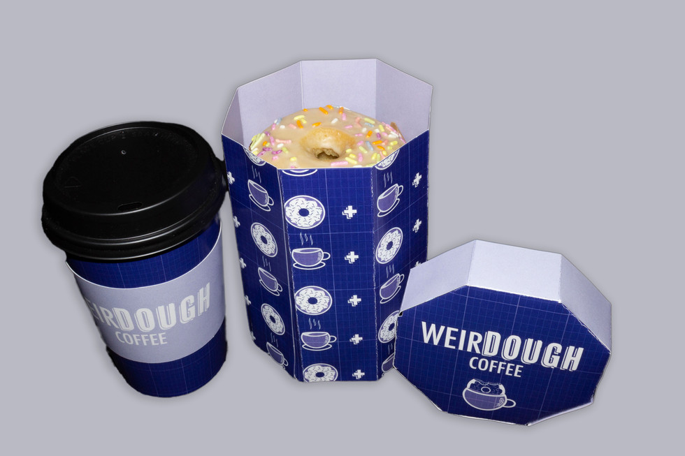 WeirDOUGH doughnut holder + coffee cup