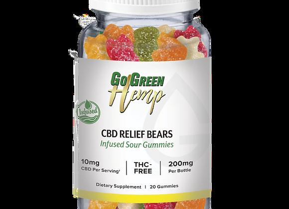 GoGreen Hemp CBD Infused Relief Sour Bears 10mg