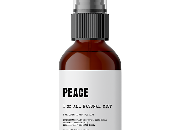 Peace - Meditation/Body Mist - Made With All Natural Ingredients