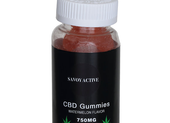 CBD Gummies - Watermelon Flavor  - 100% Natural - 30 Gummies  Made in USA