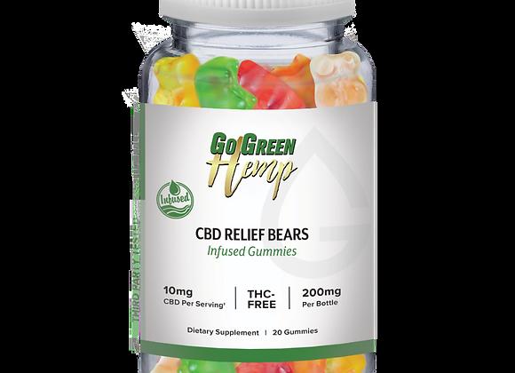 GoGreen Hemp CBD Infused Relief Bears 10mg