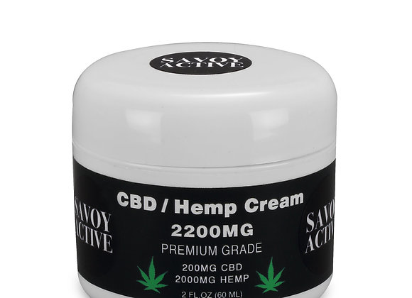 CBD / Hemp Seed Oil Cream 100% Natural - 200MG CBD - 2000MG Hemp