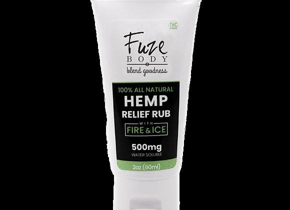 Hemp Pain Cream W/Fire & Ice™ Nano H2O - 2 Oz