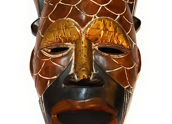 "🎁 ONE DAY SALE 12"" African Wood Mask: Brown and Black"