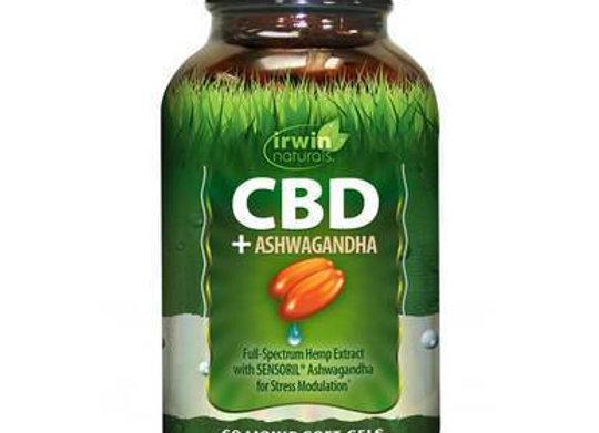Irwin Naturals - CBD Capsules - CBD + Ashwagandha - 30mg