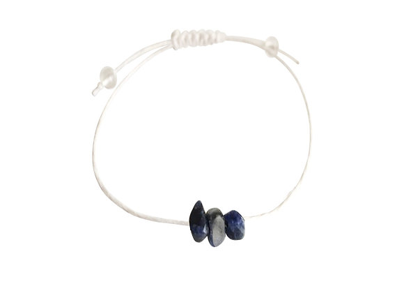 Sodalite + Hemp + Choice of Anklet or Bracelet