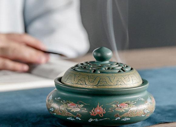 4 Styles Ceramic Incense Burners Porcelain