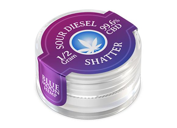 Blue Moon Hemp - CBD Concentrate - Sour Diesel Shatter - 0.5 Gram