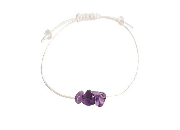 Amethyst + Hemp + Choice of Anklet or Bracelet