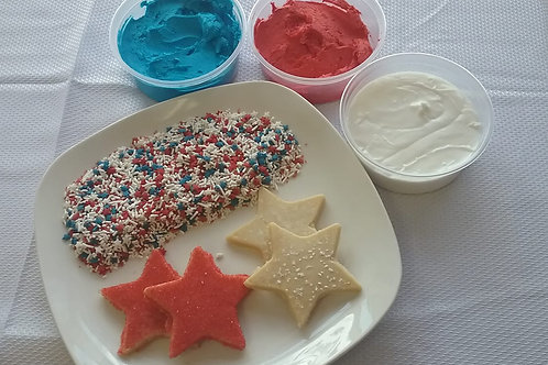 4th of July unbaked Star cookie kit