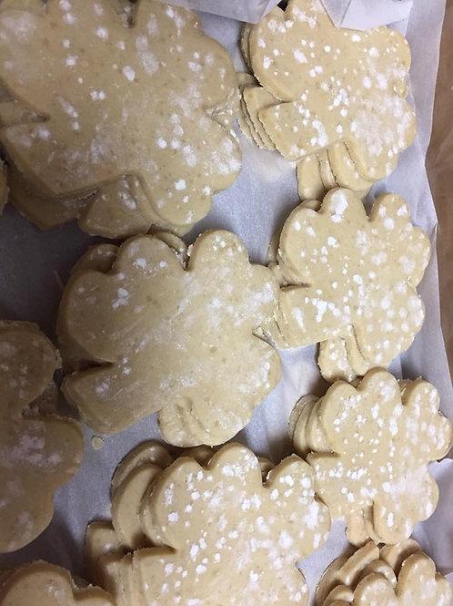 Unbaked Shamrock Cookies 12ct