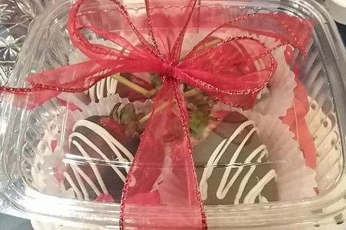 Chocolate Dipped Stemed Strawberries 4pk