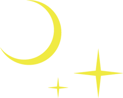 Moon And Stars (Transparent).png
