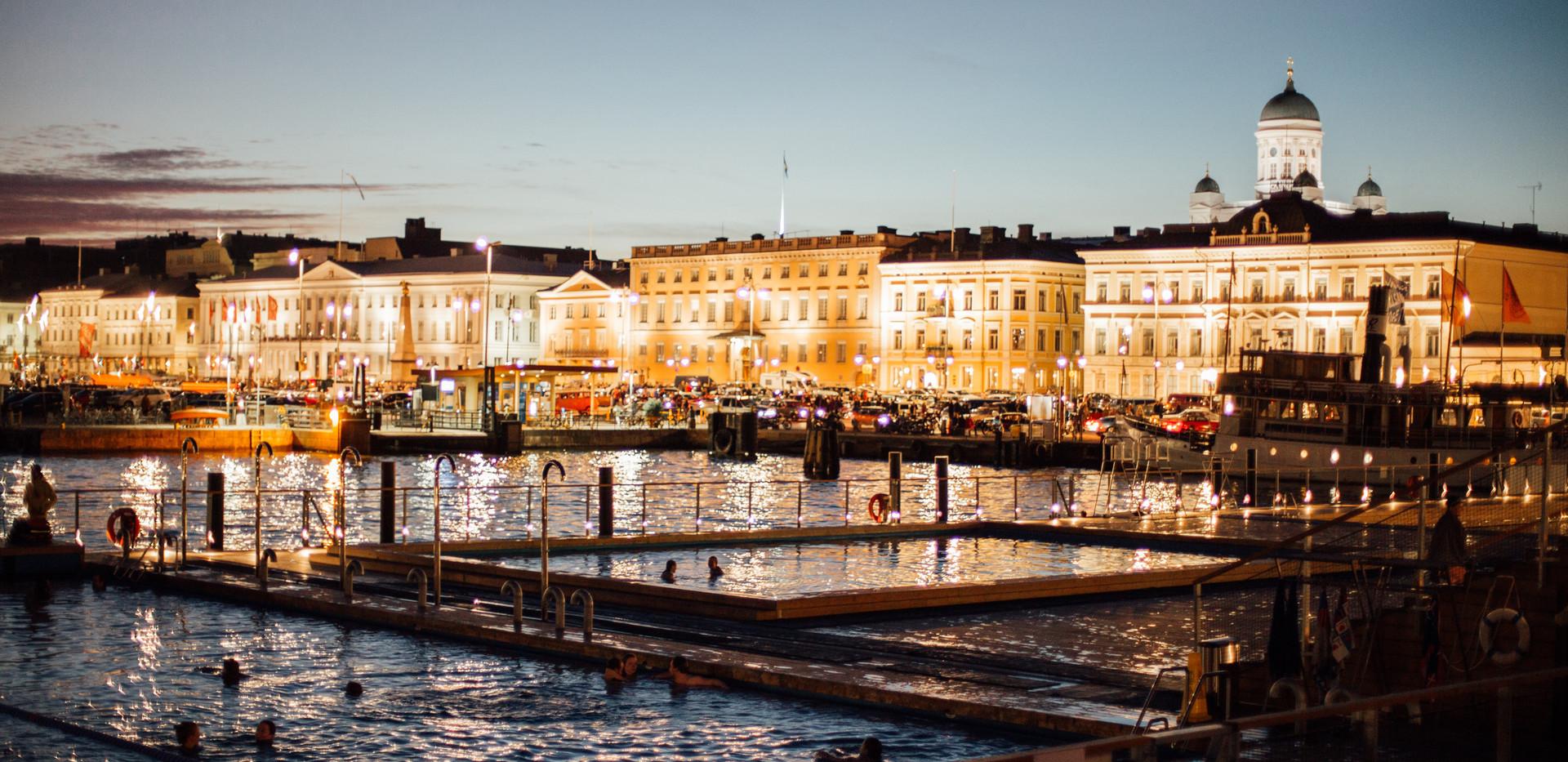 Finland Helsinki AllasSeaPool people hig