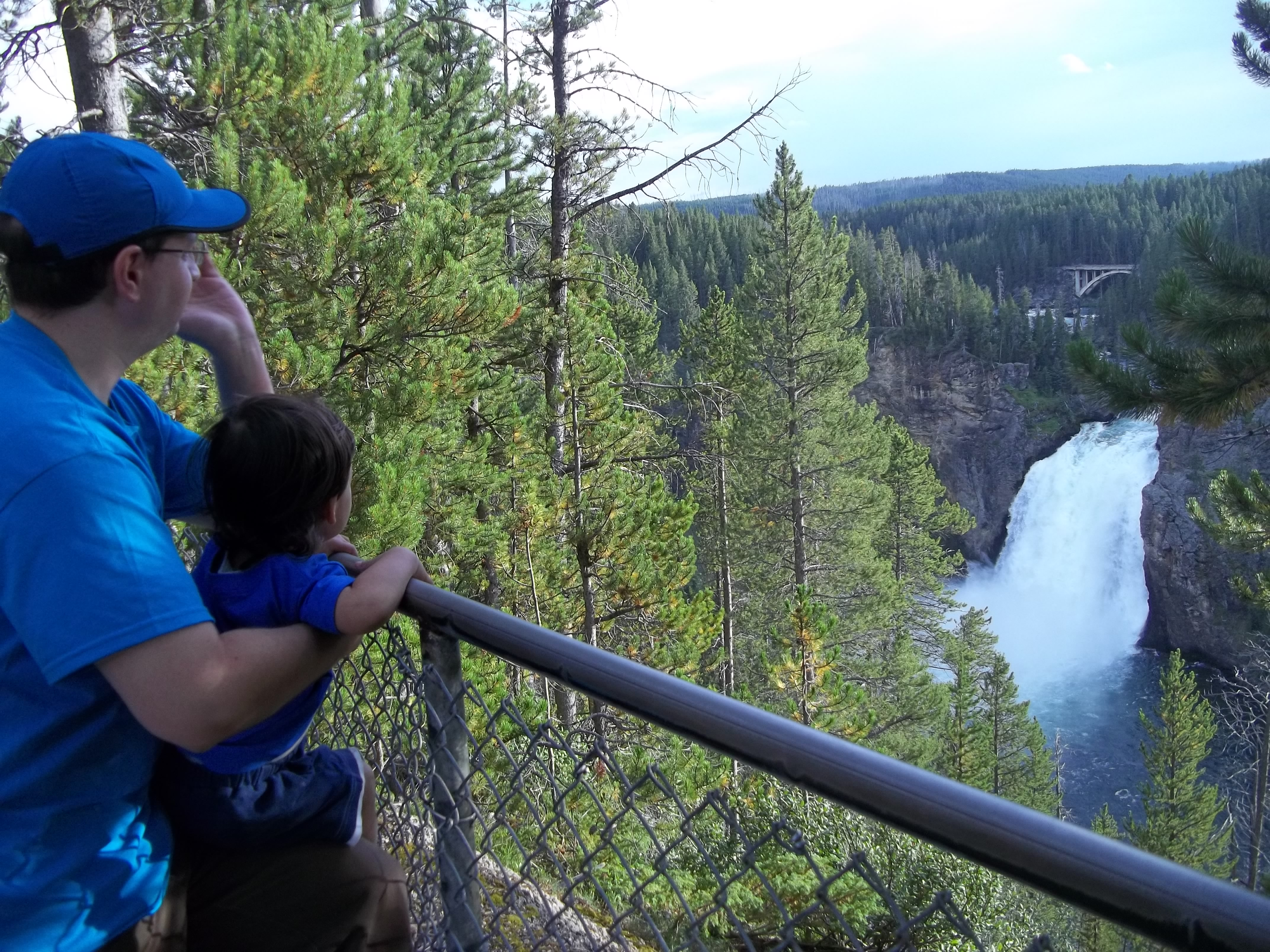 Upper Falls of Yellowstone River in Yellowstone National Park