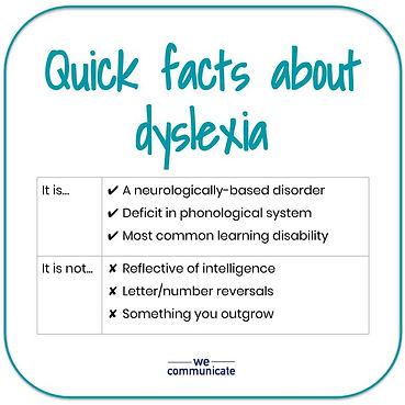 Dyslexia facts