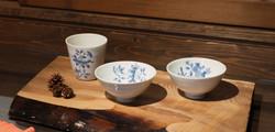 盧 眞珠 染付茶碗