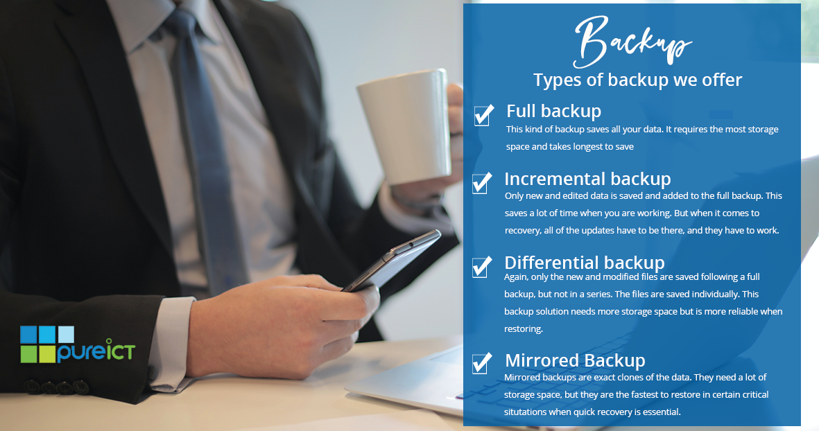 Types of backup we offer