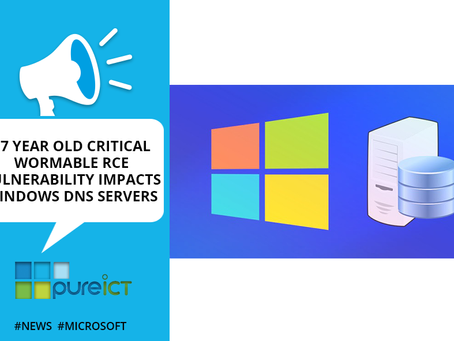 "17 Year old Critical ""Wormable"" RCE Vulnerability impacts Windows DNS servers"