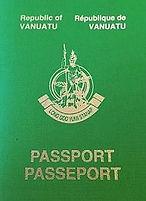 Vanuatu passport.
