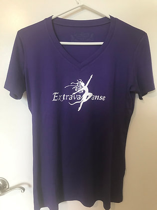 Ladies V-Neck EDA T-Shirt - Purple