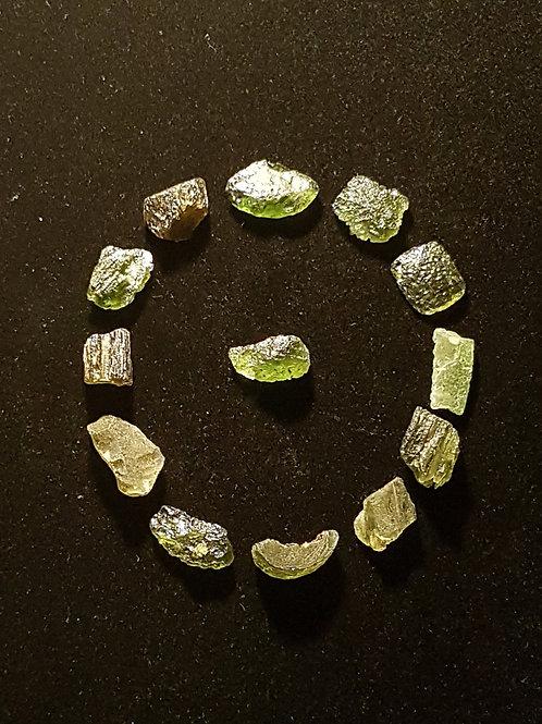 Moldavites x13 C, B, A 24,9g