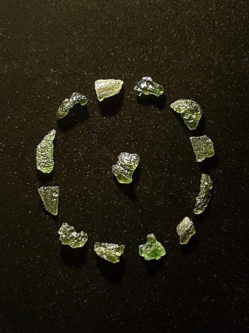 Moldavites x13 B, A 14,4g