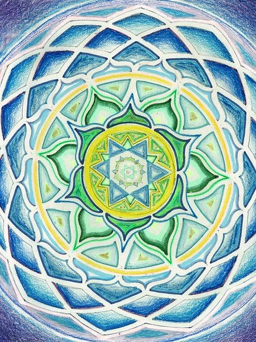 Mandala Razsvetljenega SRCA
