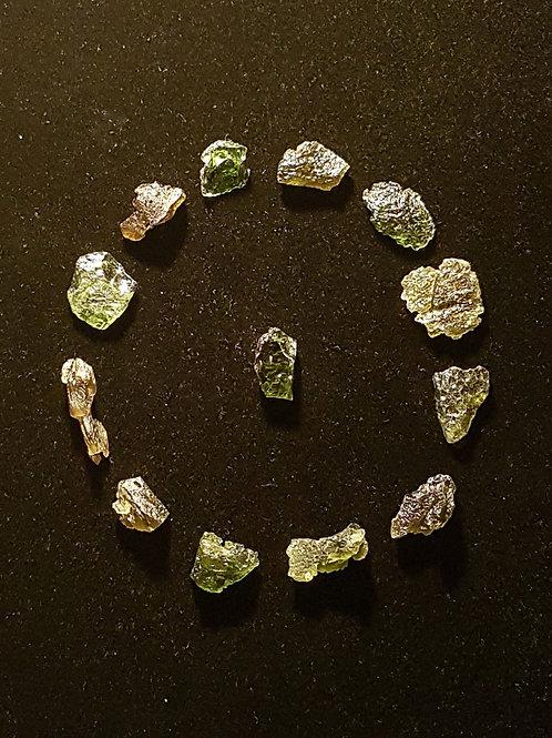 Moldavites x13 B, C 16,7g