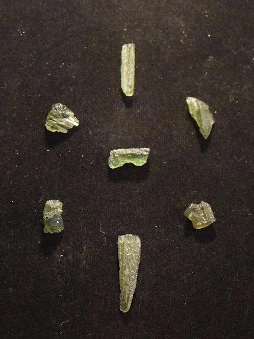 Moldavite x 7 5,2g C, B, A